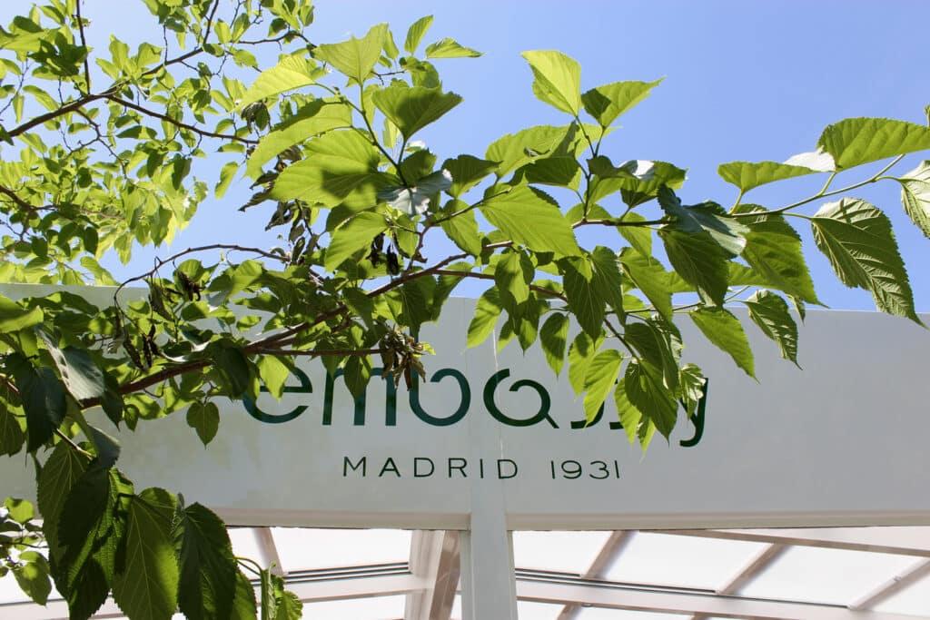 Techo plegable terraza embassy