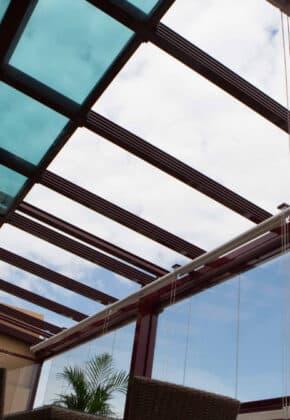 techo de cristal plegable