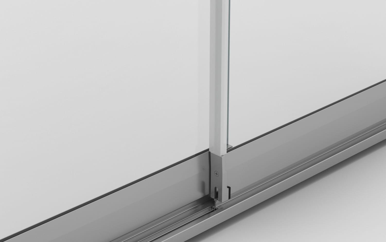 juntas verticales cortina de cristal