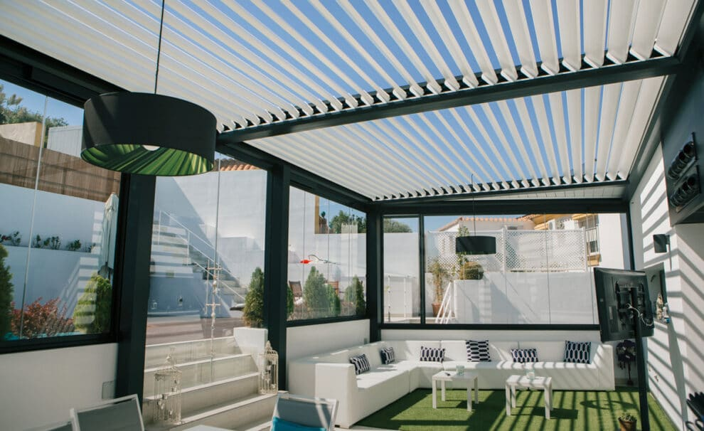 pergola bioclimatica para terraza