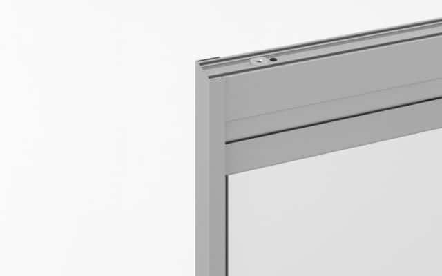 marco lateral de cortina cristal