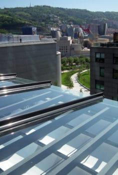 techo fijo cristal