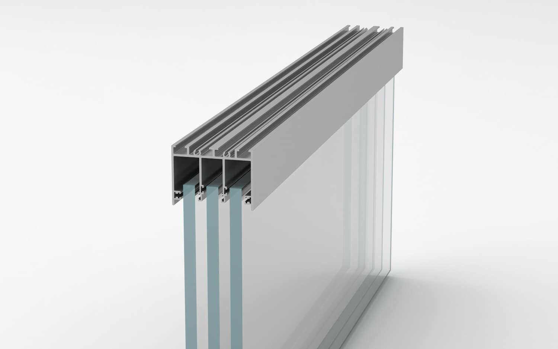 compensación de altura para cortina de cristal