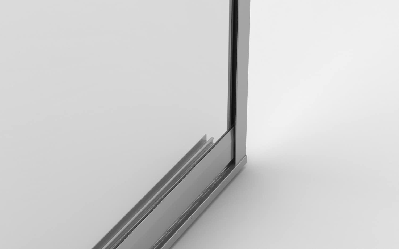marco lateral para cortina de cristal