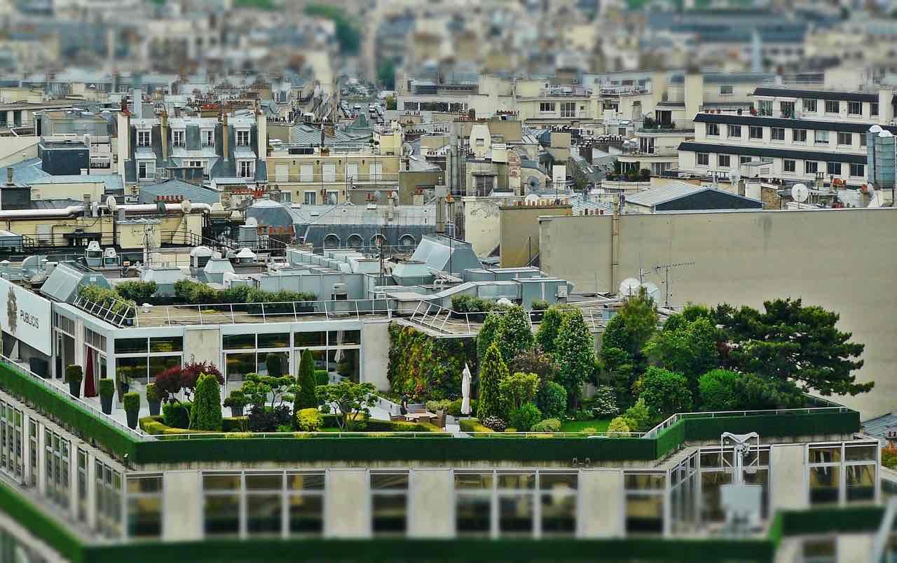terraza en primavera