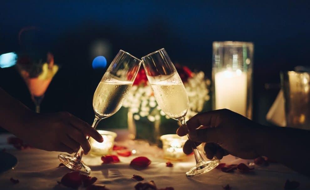 cena romantica san valentin