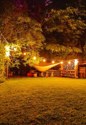 iluminacion jardin exterior